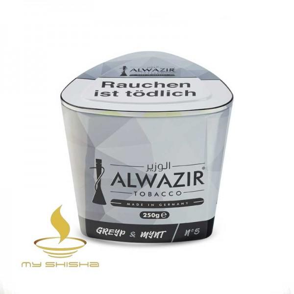 ALWAZIR TOBACCO No. 5 Greyp Mynt 250g Traube Minze