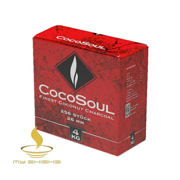 COCOSOUL Naturkohle Shisha Kohle Gastro 4KG Box 26mm Kokoskohle