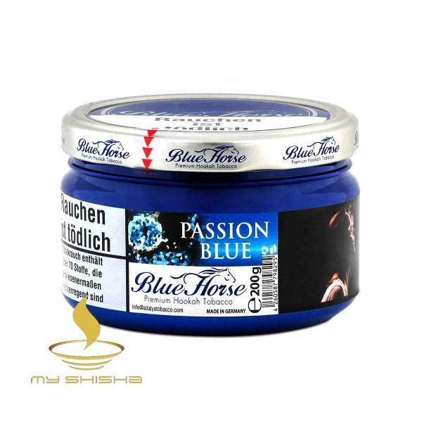 BLUE HORSE TOBACCO Passion Blue 200g Passionsfrucht Blaubeere