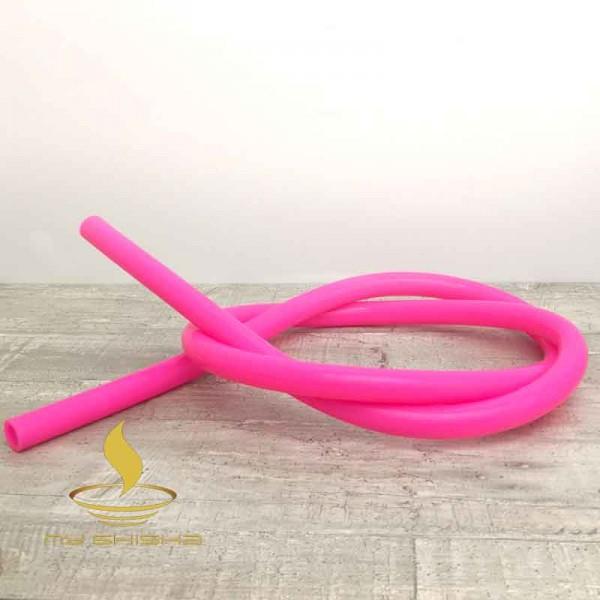 MY SHISHA Silikonschlauch Pink Glänzend Lebensmittelecht