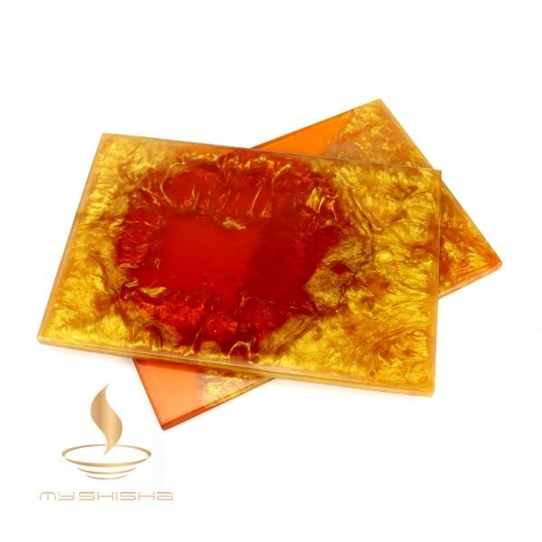 Mira Kopfbaubrett aus Epoxidharz Orange Gold