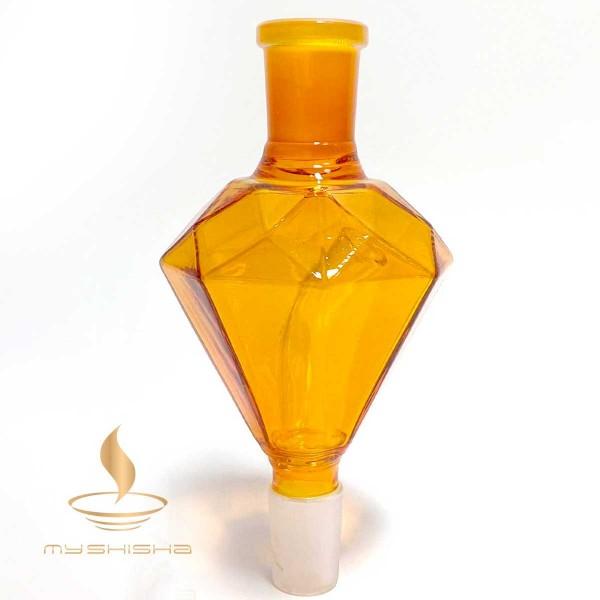 DIAMOND Glas Molassefänger Diamant Orange 13cm 18/8 Schliff