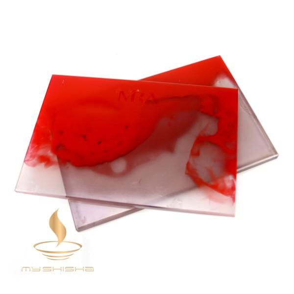 Mira Kopfbaubrett aus Epoxidharz Red Transparent Anthracite