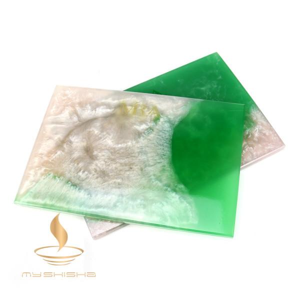 Mira Kopfbaubrett aus Epoxidharz Green White
